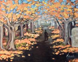 """""""Burch Street,"""" oil on panel by Melwell Romancito, 8x10"""