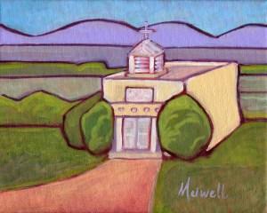"""La Iglesia de San Isidro,"" oil on canvas by Melwell, 8x10"