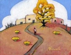 """La Lomita,"" oil on canvas panel by Melwell, 8x10"
