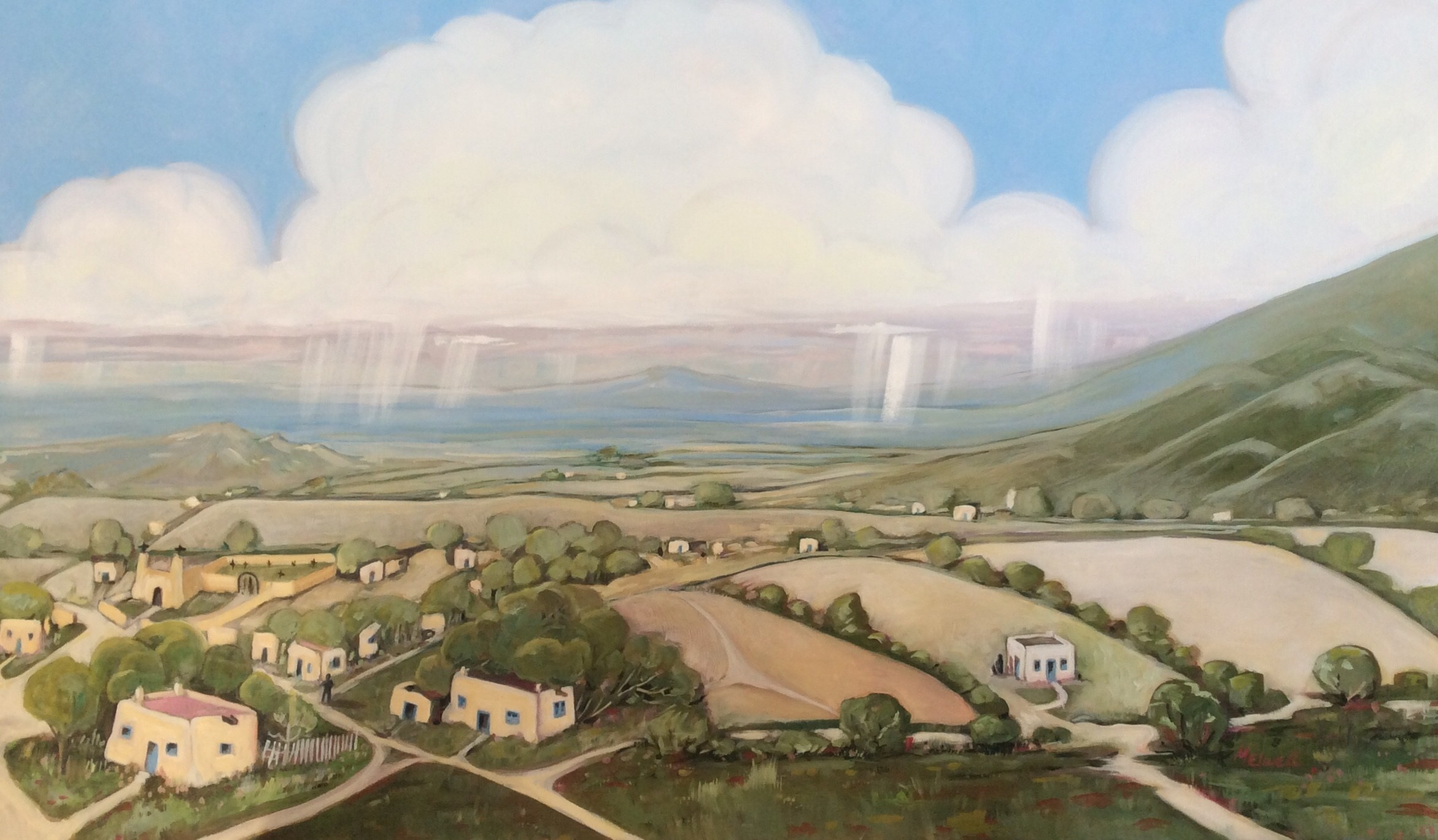 """""""From the Foothills,"""" oil on canvas by Melwell, 36x48"""