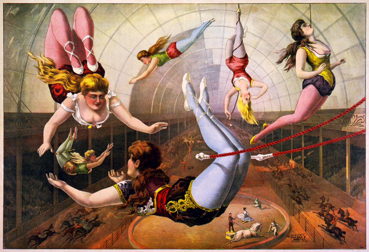Late 18th Century Trapese Artists