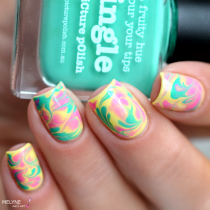 Dry marble nail art Picture Polish 3