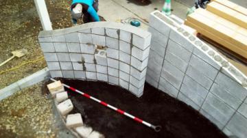 ブロック塀曲線