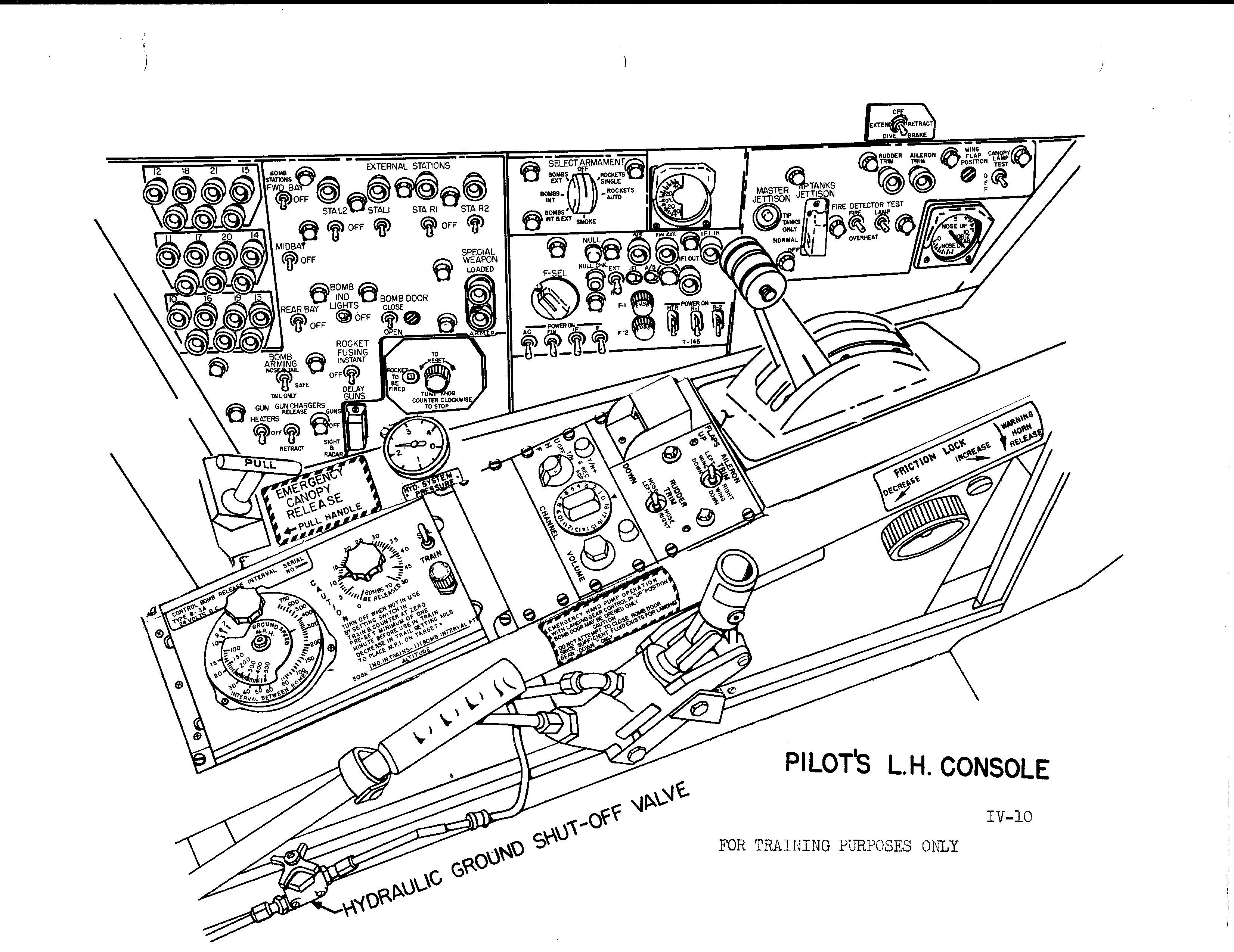 B 57b Cockpit