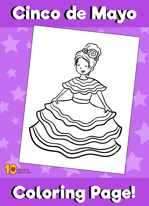 Cinco De Mayo Coloring Page Girl Dancing 10 Minutes Of Quality Time