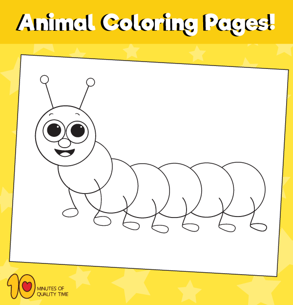 Caterpillar Coloring Page Animal Coloring Pages 10 Minutes Of Quality Time