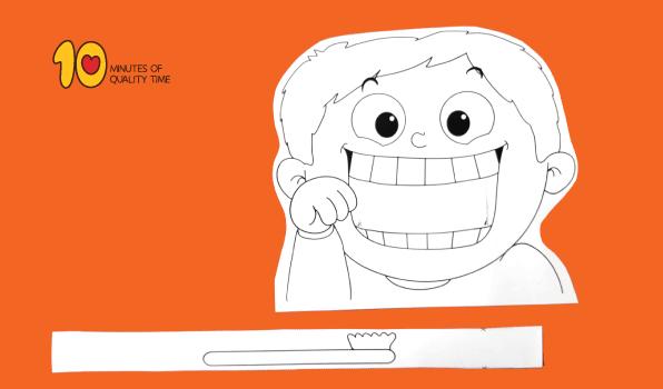 Child Brushing Teeth Printable Craft 10 Minutes Of