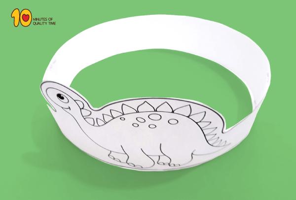 Dinosaur Paper Crown Printable Template 10 Minutes Of