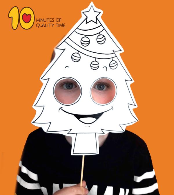 Christmas Tree Printable Mask 10 Minutes Of Quality Time