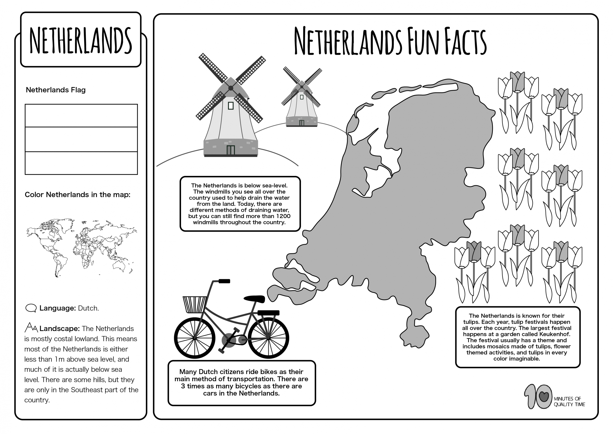 Netherlands Free Lesson Plan And Worksheets 10 Minutes