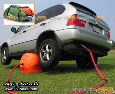 استبدل إطار السيارة بسرعة وسهولة مع رافعة هواء العادم