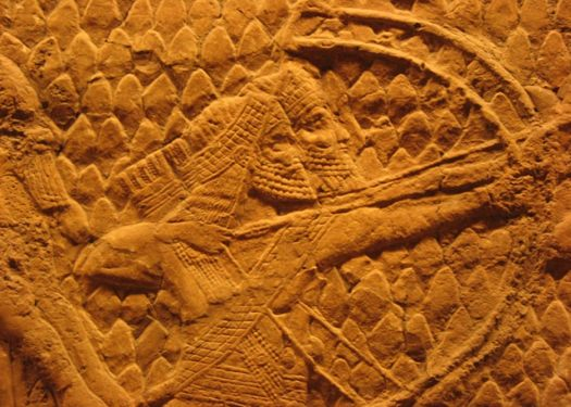 Assyrian Archers. Assyrian Relief, South-West Palace of Nineveh (room 36, panel 5-6) ; 700–692 BC.