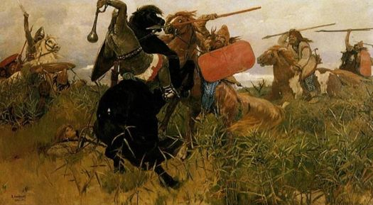 Battle between the Scythians and their enemies.