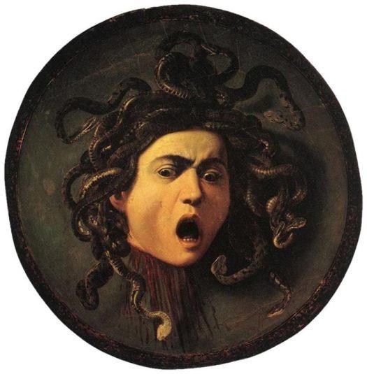 Medusa by Carvaggio, circa 1595.