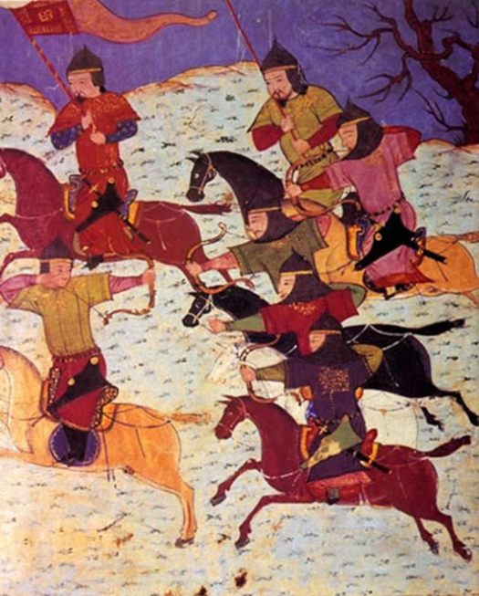 Mongol cavalry archery from using the Mongol bow.