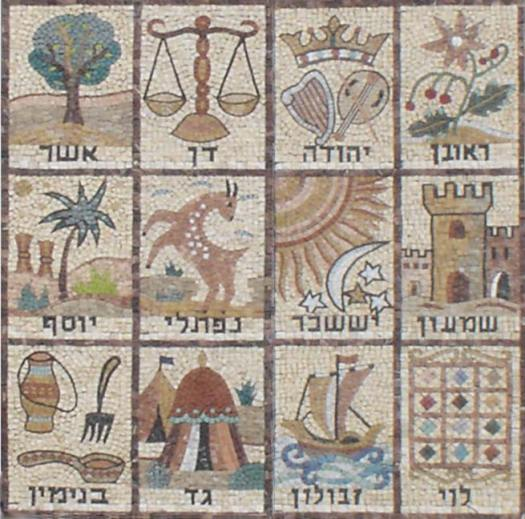 Mosaic of the 12 Tribes of Israel.