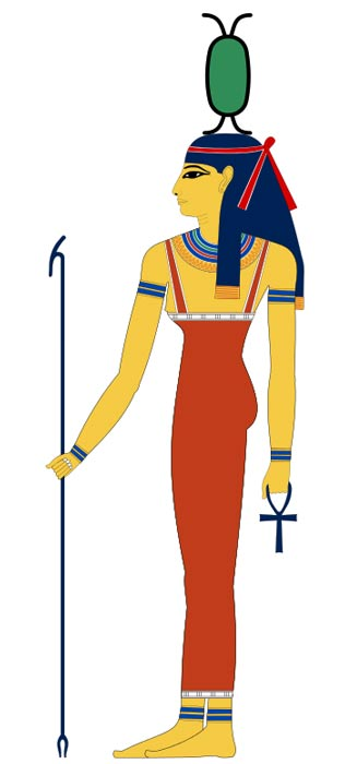 Neith, an ancient Egyptian goddess.