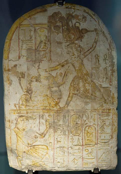 Stela of ramose. Ramesses II smites his enemies (limestone, deir el-Medineh) Representative image.