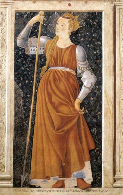 Tomyris as imagined by Castagno, 15th century.
