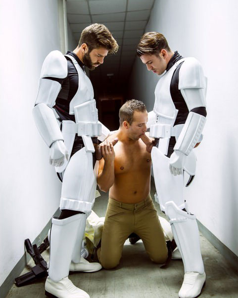 Gay Storm Trooper Threesome
