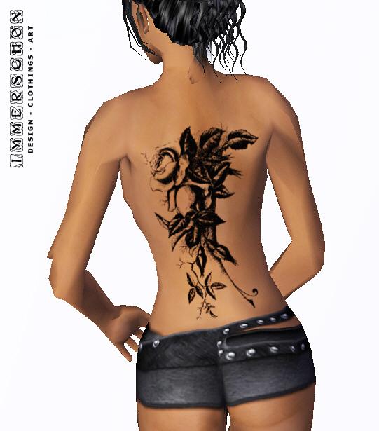 Girl Tattoo nice leave art designs