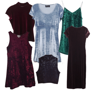 Ladies velvet Crushed Dresses