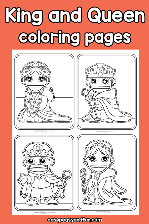 King And Queen Coloring Pages Easy Peasy And Fun Membership