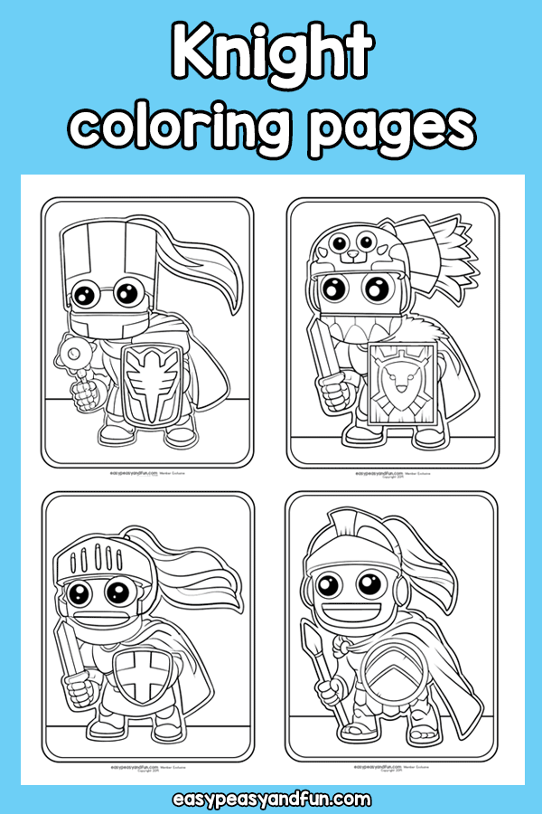 Knight Coloring Pages Easy Peasy And Fun Membership