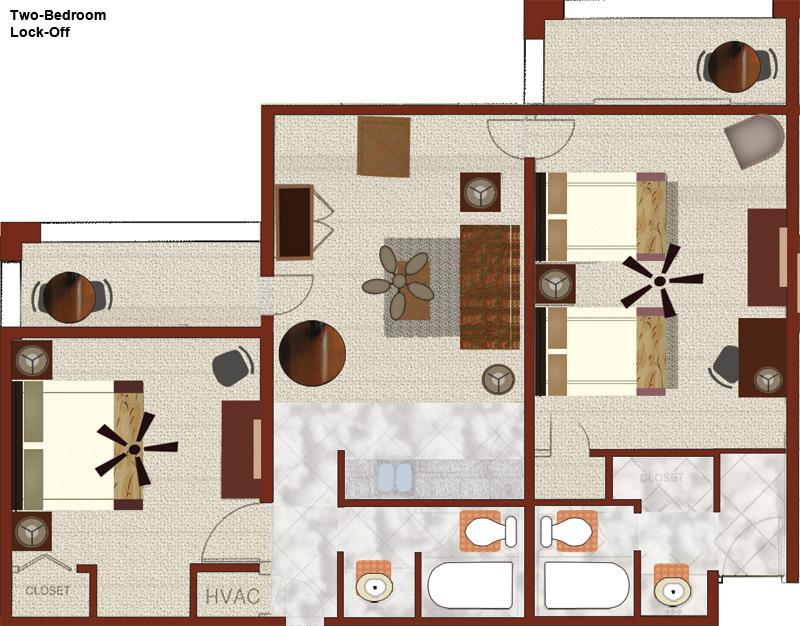Orange Lake Resort 3 Bedroom Villa Floor Plan   www.looksisquare.com