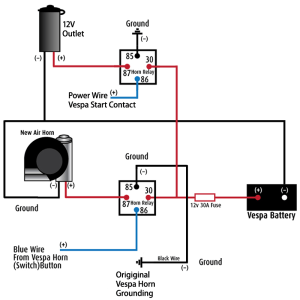 Modern Vespa : LX150: Installing a Stebel Nautilus Air Horn