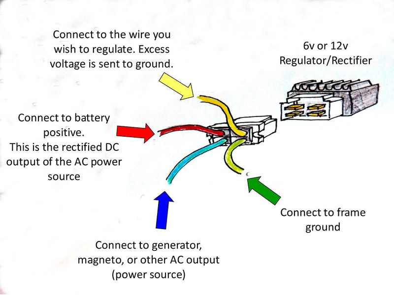 4 wire regulator rectifier wiring diagram tamahuproject org Chrysler Voltage Regulator Wiring Diagram at 4 Wire Voltage Regulator Wiring Diagram