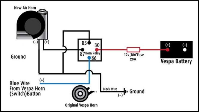 single horn relay wiring