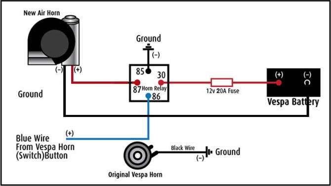 wiring diagram for stebel air horn  circuit diagram symbols •