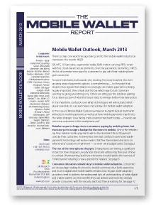 Mobile Wallet Outlook, March 2013