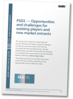 PSD2 — Opportunities and challenges for existing players and new market entrants