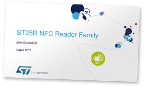 Cover shot: ST25R NFC Reader Family presentation