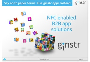 Covershot: 'Meet Ginstr: NFC Enabled B2B App Solutions'