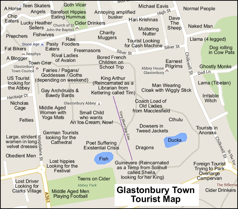 Normal For Glastonbury Town Map