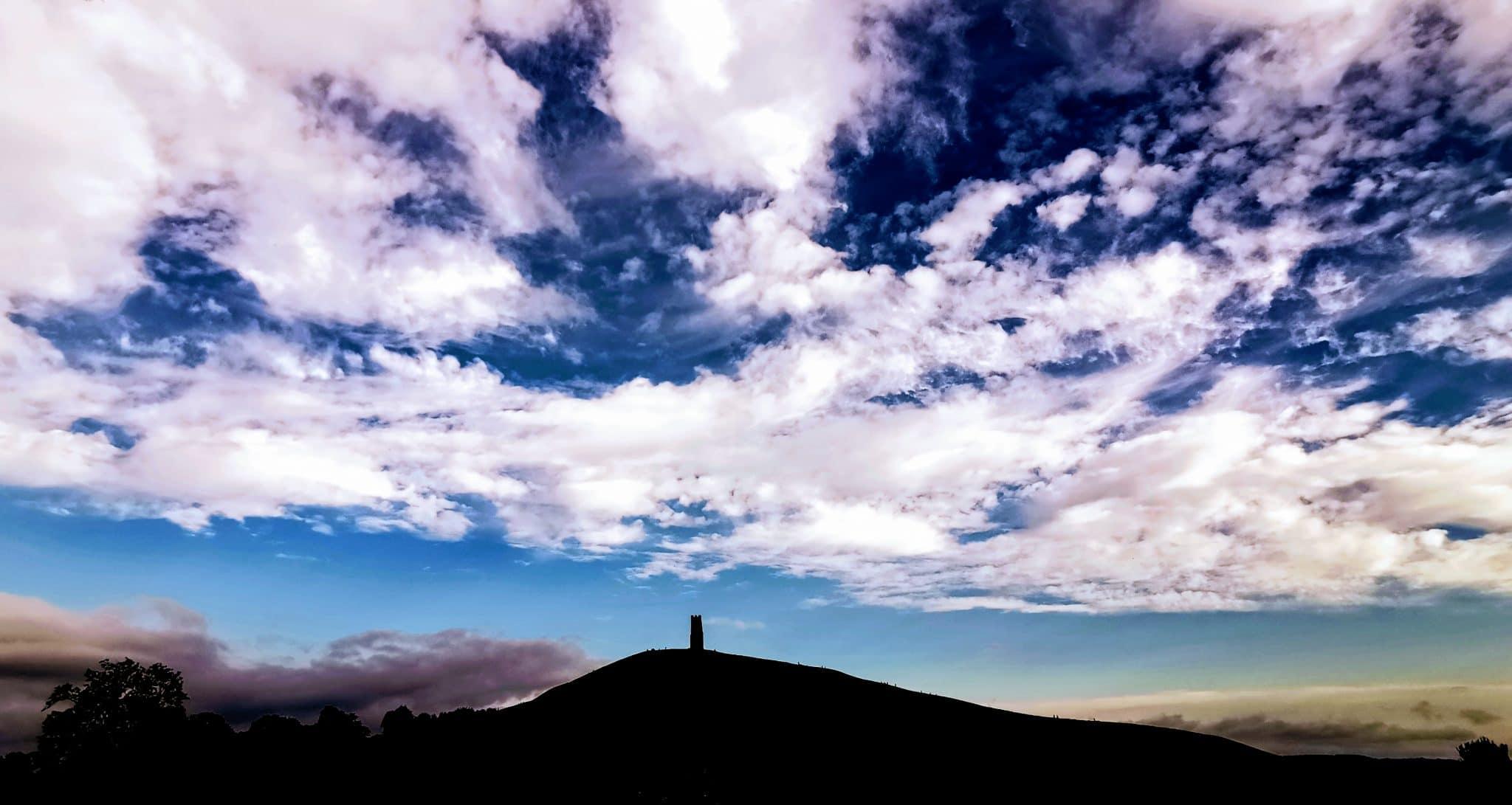 Glastonbury Tor silhouette