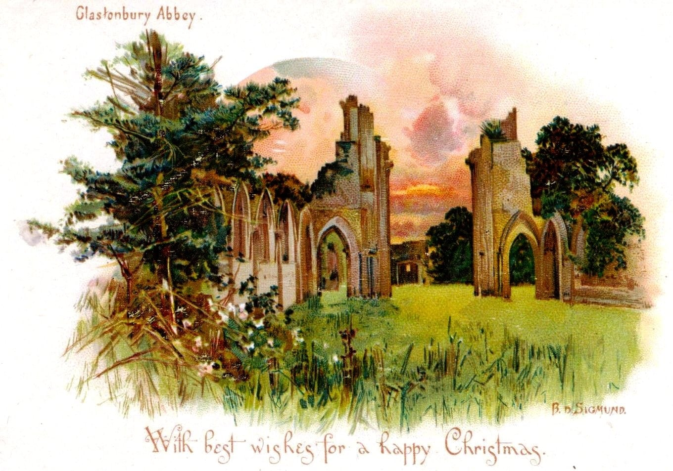 Victorian Glastonbury postcard