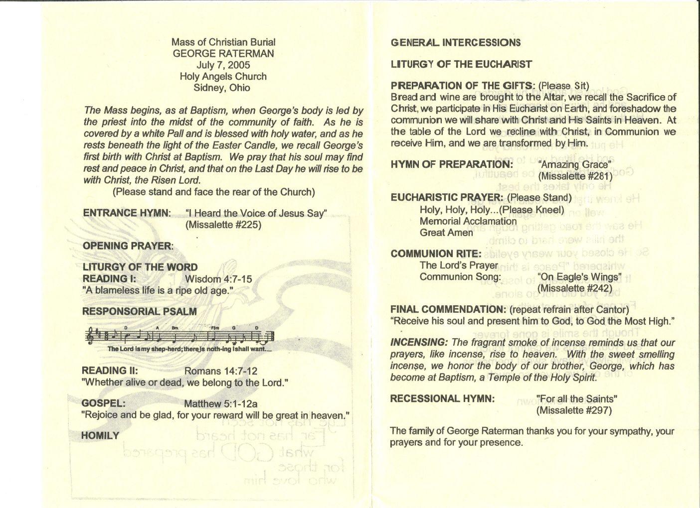 catholic wedding program templates. catholic wedding mass program ...