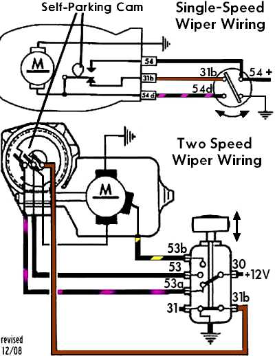 WiperSelfParkWiring vetus wiper motor wiring diagram how does a wiper motor work universal wiper motor switch wiring diagram at virtualis.co