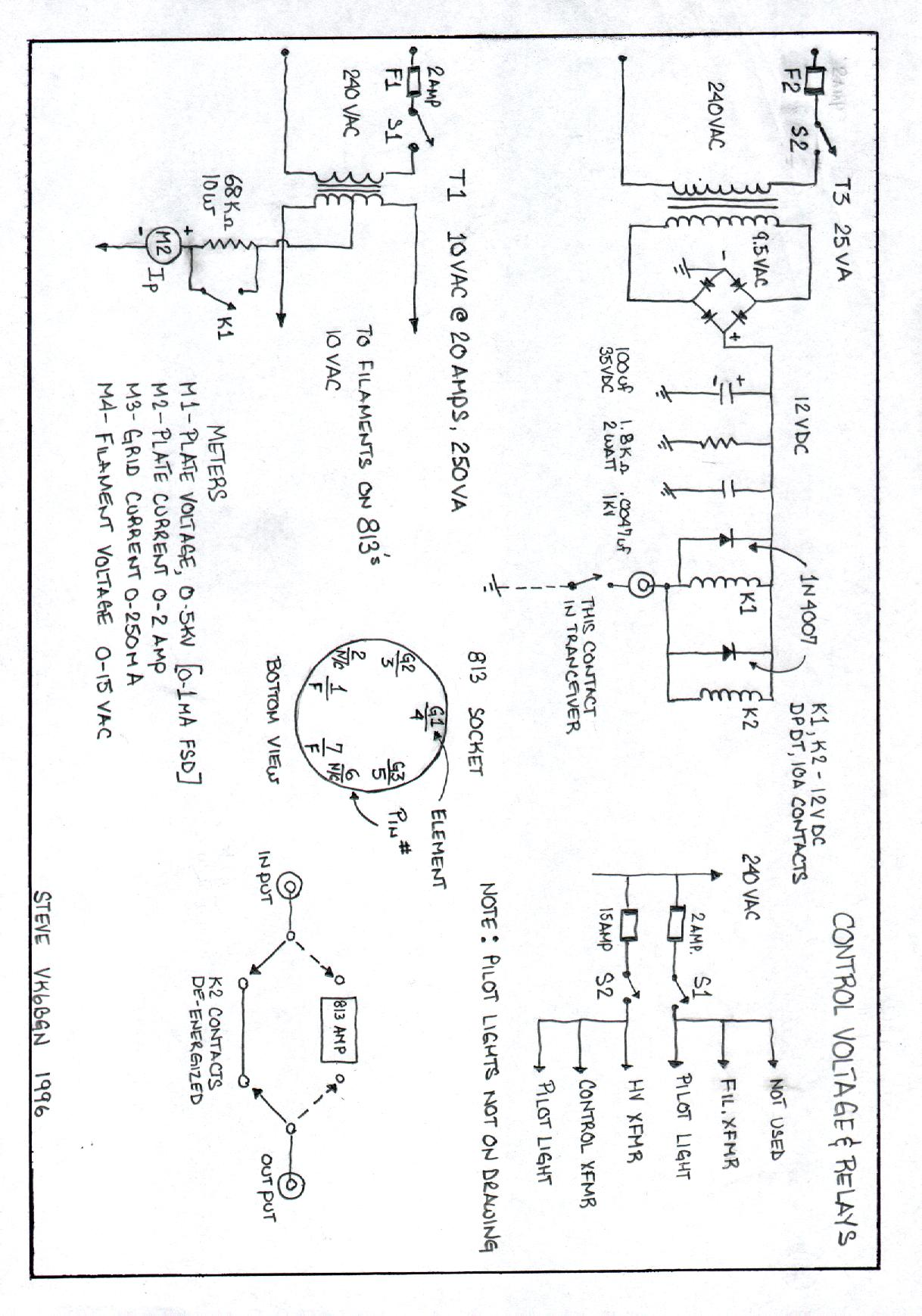 Four 813 G2daf Rf Amplifier