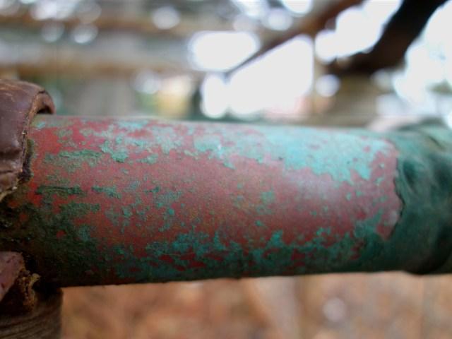 Pipe coatings close to sea.