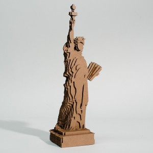 3d cardboard statue of liberty