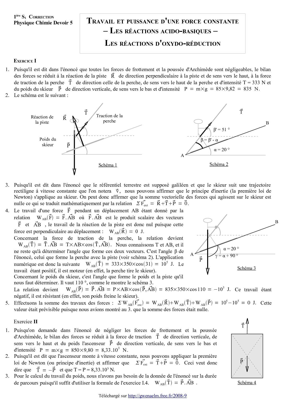 Exercice Physique Chimie 1ere S : exercice, physique, chimie, Physique, Chimie, Exercices, Corriges, Sciences, Physiques