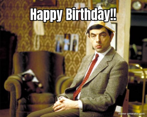 Mr Bean Happy Birthday Meme Generator