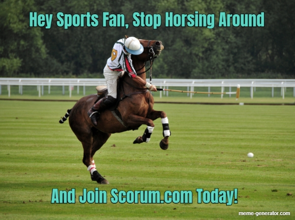 Hey Sports Fan Stop Horsing Around And Join Scorum Com Toda