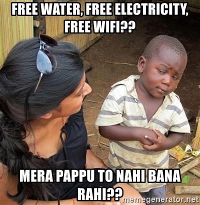 Free Water Free Electricity Free Wifi Mera Pappu To Nahi Bana