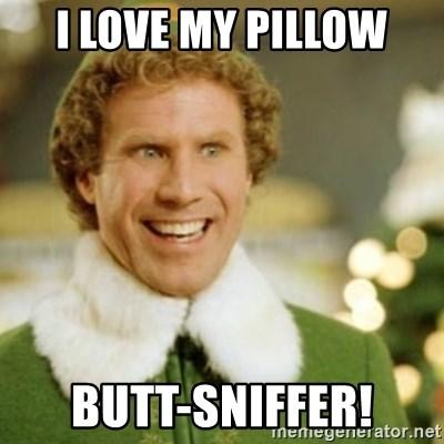 i love my pillow butt sniffer buddy